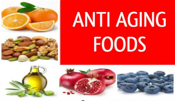 anti-aging foods for healthy 40s woman with fruits